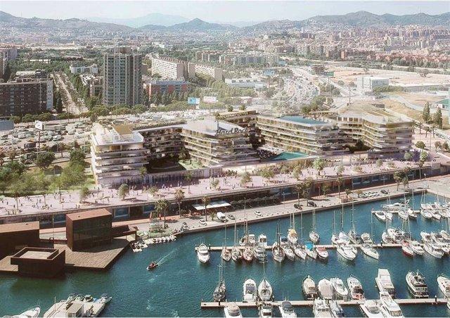 Litoral de la ciudad de Barcelona