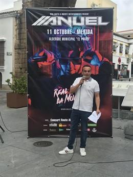 Presentación del concierto que Anuel AA ofrecerá en octubre en Mérida