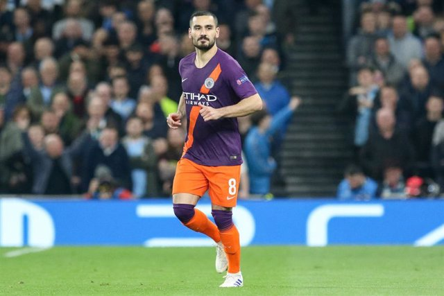 Ilkay Gundogan durante un partido del Manchester City