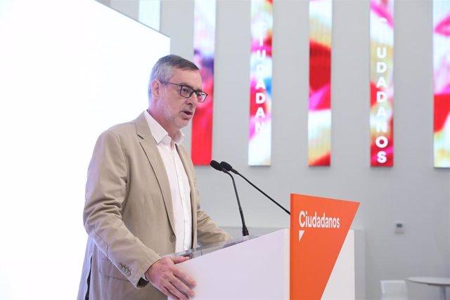 El secretario general de Ciudadanos, José Manuel Villegas, ofrece una rueda de prensa tras la reunión del Comité Permanente del partido.