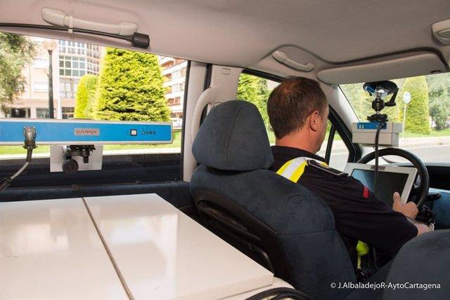 Control radar de velocidad de la Policía Local