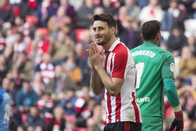 Aduriz durante un partido del Athletic Club
