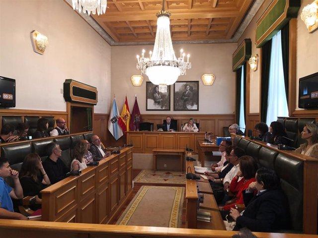 Pleno extraordinario de presupuestos en el Ayuntamiento de Santiago