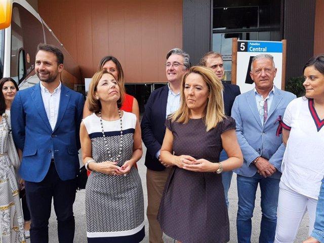 La portavoz del PP en la Junta General del Principado de Asturias, María Teresa Mallada, durante su visita a la 63 Feria Internacional de Muestras de Asturias
