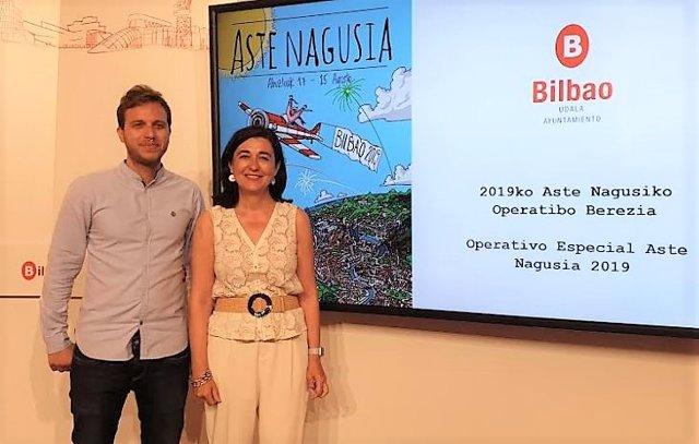 Yolanda Díez y Álvaro Perez, concejales de Bilbao