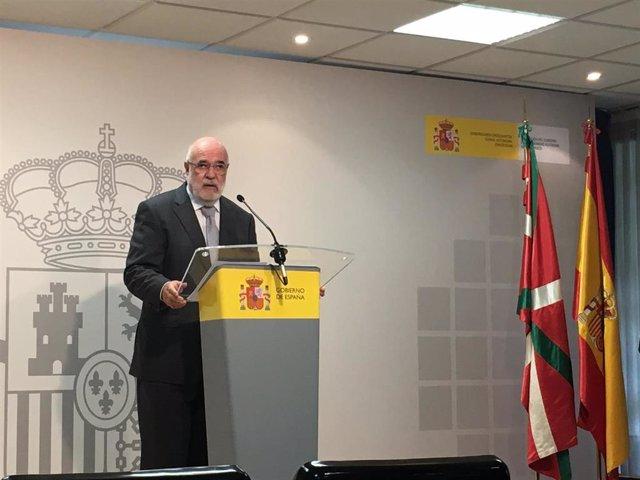 El delegado del Gobierno central en el País Vasco, Jesús Loza