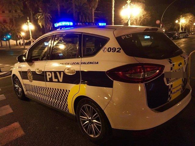 Coche patrulla de la Policía Local de València