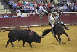 Imatge d'una correguda de toros.