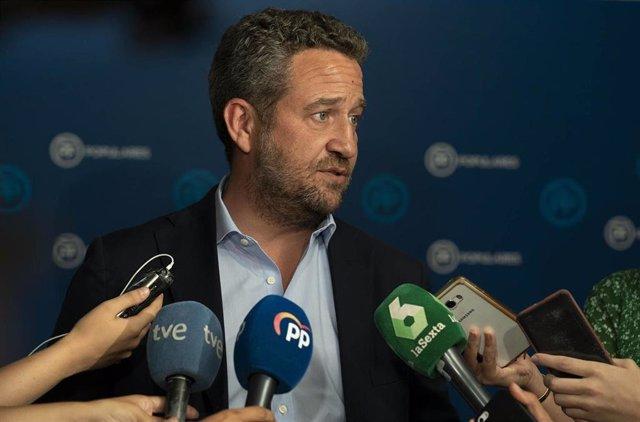 El vicesecretario de Participación del PP, Jaime de Olano, en declaraciones a los medios de comunicación.