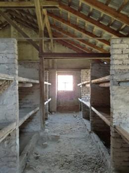 Interior de uno de los campos de concentración nazi.
