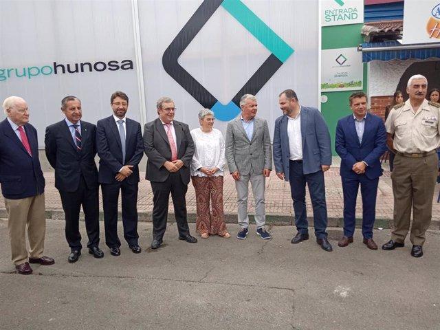 El consejero de Industria, Empleo y Promoción Económica del Principado, Enrique Fernández, en la Fidma con motivo de la celebración del Día de Hunosa