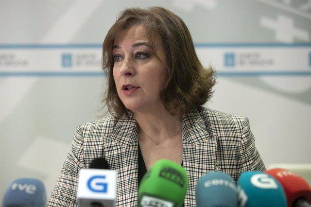 Susana López Abella en rueda de prensa