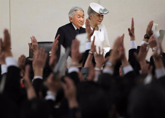 Emperadores Akihito y Michiko en Japón