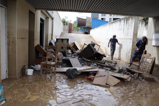 Inundación en Tafalla.