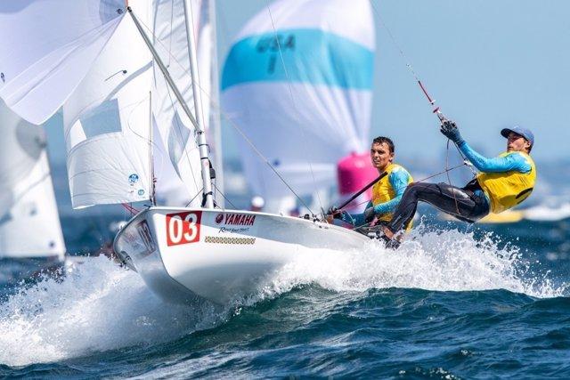 Jordi Xammar y Nicolás Rodríguez. Mundial Clase 470 Enoshima 2019
