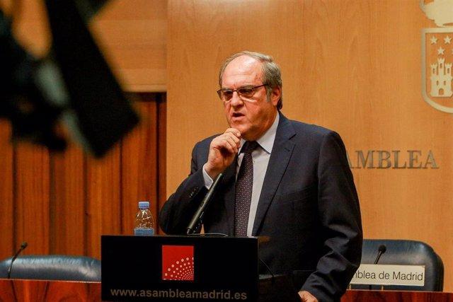 Imagen recurso del portavoz del PSOE en la Asamblea de Madrid, Ángel Gabilondo,