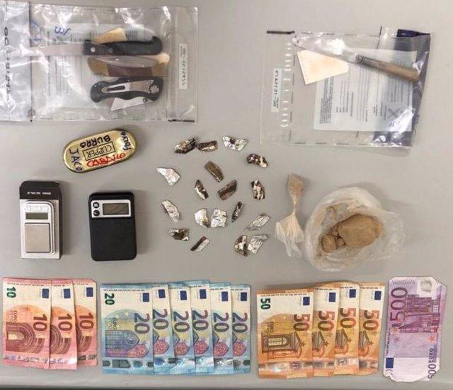 La Guardia Civil de Ourense detiene a cuatro personas como presuntos autores de un delito contra el tráfico de drogas.
