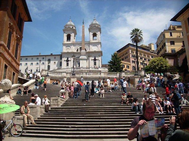 Plaza Espanya de Roma.