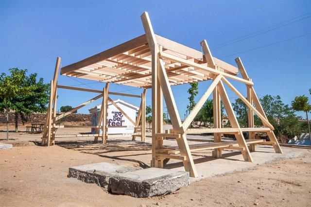 Proyecto que se realizó en la V edición del Fast Wood Festival de España, que este año de celebra en Daroca desde este sábado 10 hasta el domingo 18.