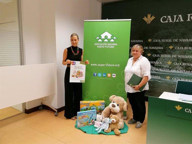 Presentación de la campaña 'Un juguete, una sonrisa' de Nuevo Futuro y Caja Rural de Navarra