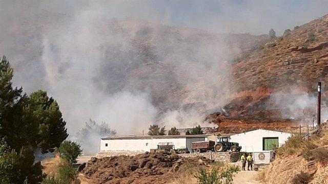 Incendio en Casas Bajas