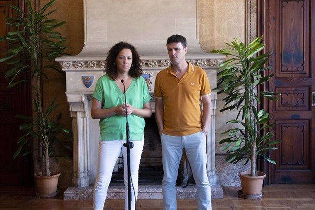 La presidenta del Consell de Mallorca, Catalina Cladera, es reuneix amb l'alcalde d'Artà, Manuel Galán.