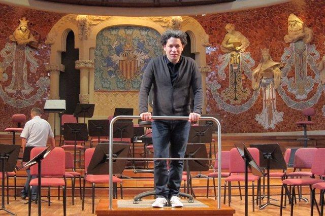 Gustavo Dudamel en el Palau de la Música (archivo)