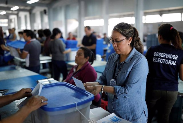 Material electoral en Guatemala