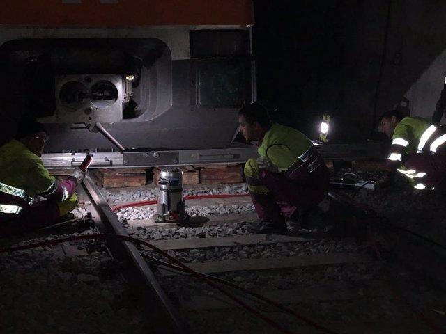 Descarrilament d'un tren en el túnel de Toses