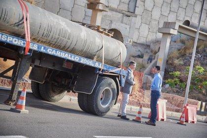 El Cabildo de Tenerife reparará este fin de semana la tubería rota en la zona de Los Moriscos