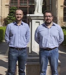 El doctor José María Cecilia y el doctor Horacio Pérez, que lideran dos grupos de investigación en la UCAM