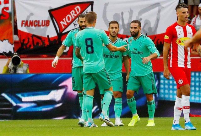 Hazard da el triunfo al Real Madrid en Salzburgo