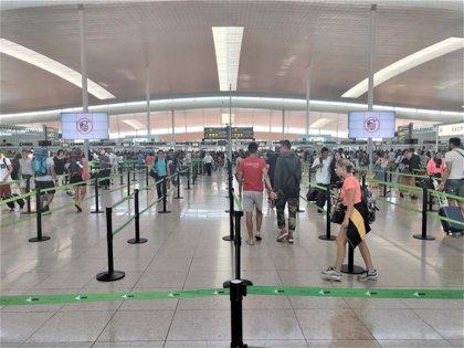 La segunda jornada de huelga en el Aeropuerto de Barcelona transcurre con poca incidencia