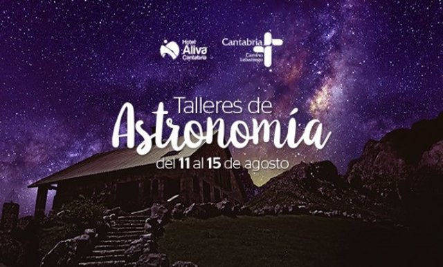 Cartel taller Astronomía Hotel Áliva