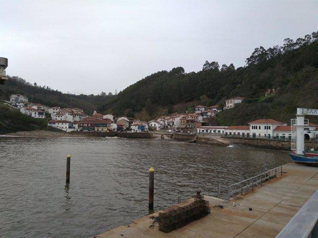 Pueblo de Tazones, en Asturias.