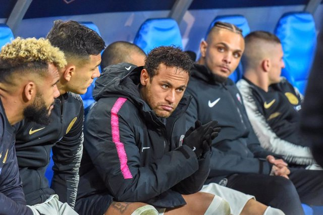 disappointment Neymar JR of PSG during the French Cup, Final football match between Stade Rennais and Paris Saint-Germain on April 27, 2019 at Stade de France in Saint-Denis near Paris, France - Photo Stephane Valade / DPPI