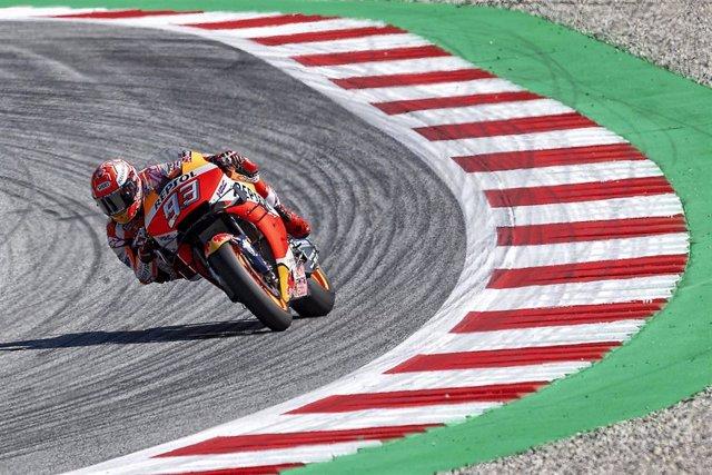 Marc Márquez durante los libres del Gran Premio de Austria 2019