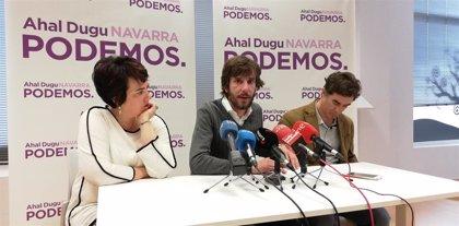 """Podemos acusa a la derecha de dar """"una imagen falsa"""" de Navarra con el caso Alsasua para """"reventar la convivencia"""""""