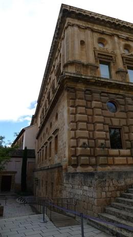 Fachada norte del Palacio de Carlos V