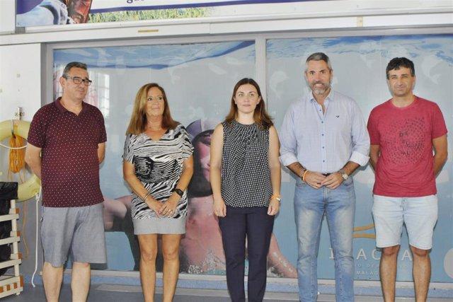 Cierre del circuito provincial de natación de verano de la Diputación de Málaga, al que ha asistido el vicepresidente primero, Juan Carlos Maldonado