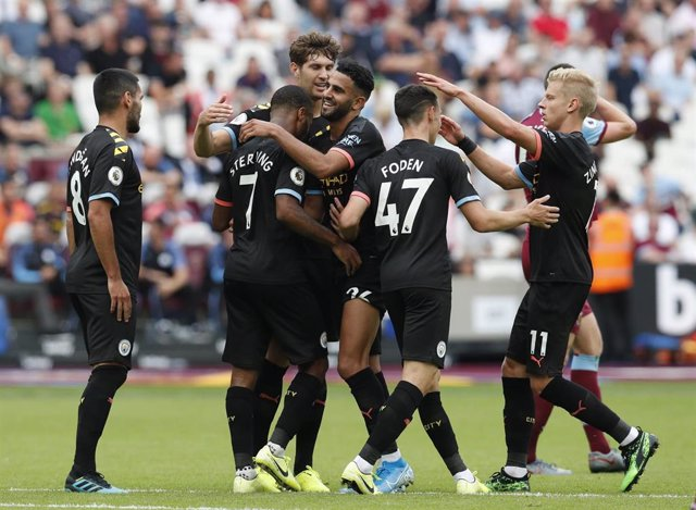 Manchester City en partido de Premier