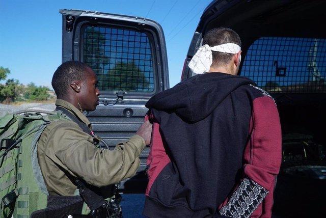 Palestino detenido en Cisjordania