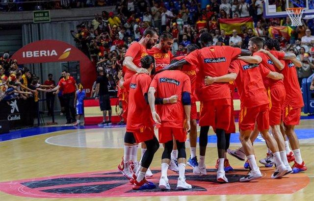 España en su preparación para el Mundial de baloncesto