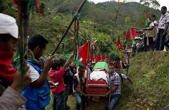 El movimiento indígena de 'Los Sin Tierra, Nietos de Manuel Quintín Lame', ha denunciado que uno de sus miembros y líder del movimiento Marcha Patriótica, fue asesinado el pasado viernes en el departamento colombiano del Cauca