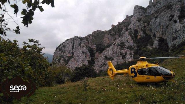 Rescate de dos escaladores en Quirós.