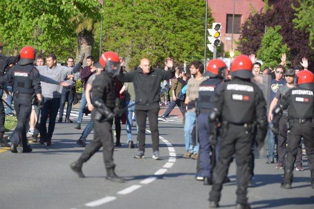 Protestas por el acto de Vox en Bilbao (archivo)