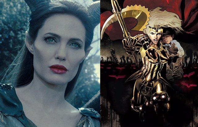 Angelina Jolie y Thena, de Los Eternos