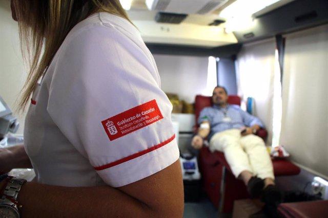 Unidad móvil del Instituto Canario de Hemodonación y Hemoterapia (ICHH)