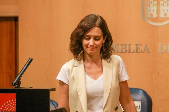 Imagen recurso de la candidata del PP a la Presidencia de la Comunidad de Madrid, Isabel Díaz Ayuso.