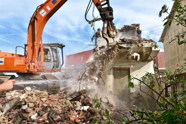 Foto derribo vivienda en Foramontanos